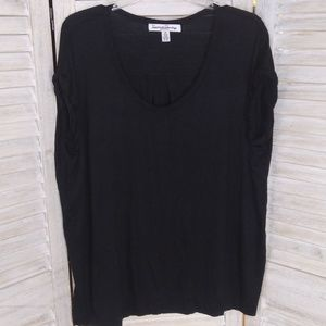 Designer detailed t-shirt French Laundry 3X EUC